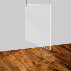 Plexiglaswand hangend
