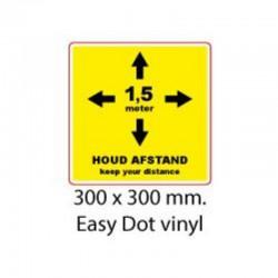 Standaard sticker 30x30 cm...